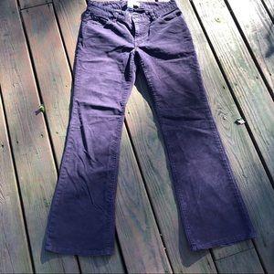 Gap Curvy Flare purple corduroy jeans
